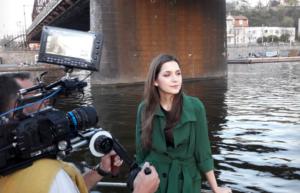 Martina Bárta natáčela pohlednici
